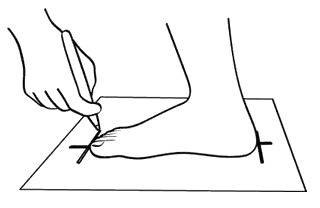 tamaño del pie